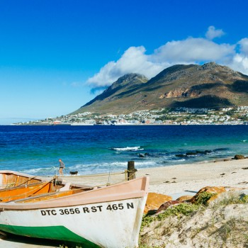 A boat on the shore of Simon's Town