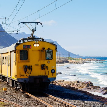 A train arrives in Simon's Town